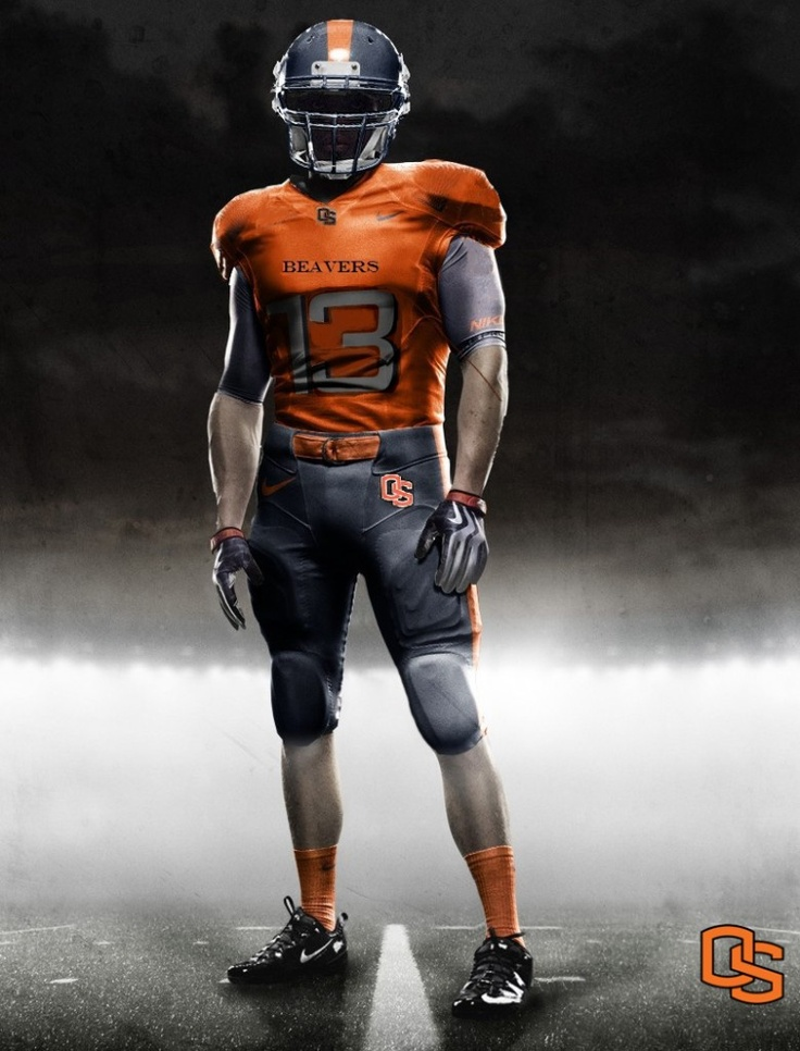 Orange Jersey with Charcoal Ncaa football, Oregon state