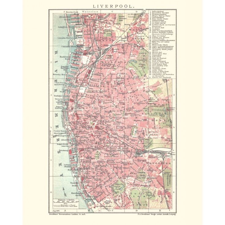 Liverpool vintage map poster. Handmade paper print from 19,99€. Shipment worldwide. Elegant antique map art.  Antique map decor. #liverpool #map, #antique, #vintage, #old, #historical, #reproduction, #handmadepaper #maps, #mapdecor, #traveldecor #walldecor, #mapgifts