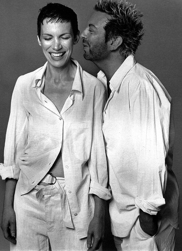 ♡ Wrapped in his shirt ...♡ David Stewart and Annie Lennox, Eurythmics by Richard Avedon