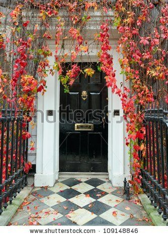 London: front door in a classic Victorian mansion. by Dostoevsky, via ShutterStock
