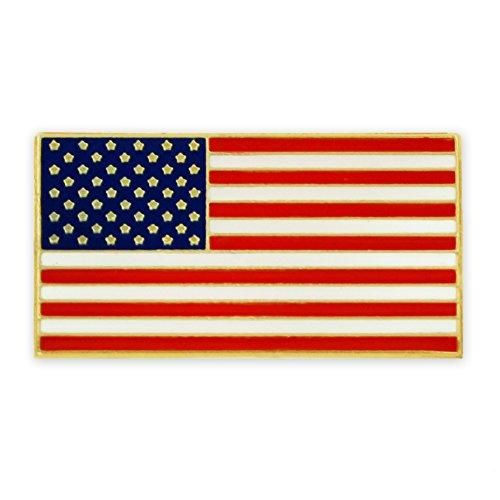 """PinMart's Patriotic American Flag Lapel Pin with Magnetic Back 3/4""""W x 3/8""""H"""