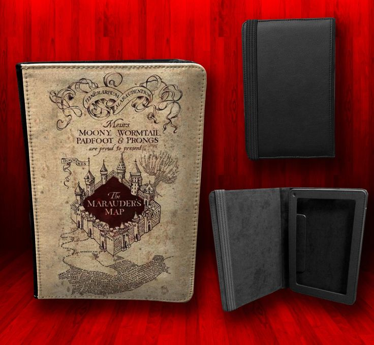 Harry Potter Book Kindle Case ~ Harry potter the marauders map kindle fire leather