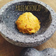 Mofongo is a puerto rican mashed plantain dish. It's basically a tropical mashed potato. And this paleo mofongo recipe is an absolutely delicious version.