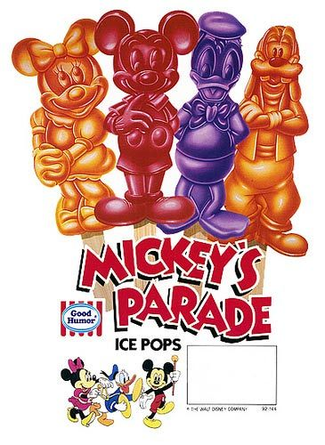 Mickey's Parade Ice Pops. One of my childhood treats!