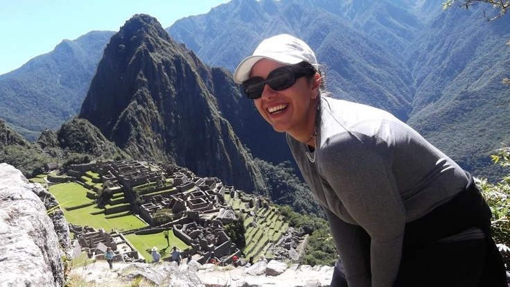 Latin America expert Sofia Montezo enjoys the views of Machu Picchu on a trip to Peru.