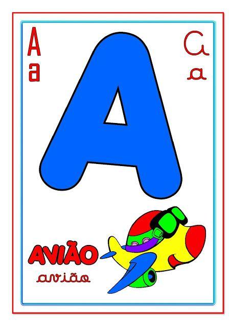Cartazes com Letras do Alfabeto ilustrado para imprimir — SÓ ESCOLA