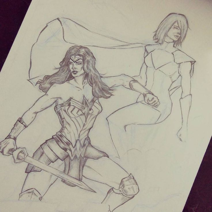 Another sketch for practice with my pencil... Here's kara and diana Two of my favorite characters from @dccomics  #skech #pencil #drawing #art #comics #dc #dccomics #comicillustration #fanart #comicart #wonderwoman #supergirl #dianaprince #galgadot #justhavingfun #practicemakehebat