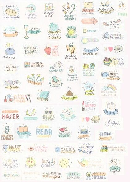 Stickers for your planner. Pegatinas para tu agenda. Scrap, scrapbooking, diy…