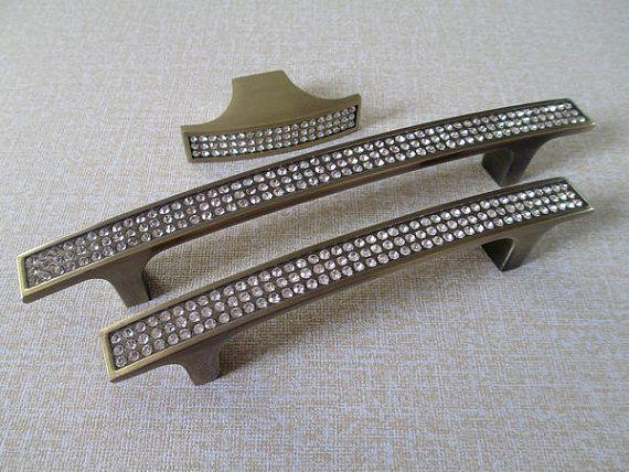 6 3 Quot Large Dresser Pull Drawer Pulls Handles Bronze Glass