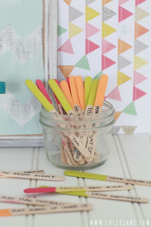 Summer-popsicle-stick-boredom-buster-jar from LollyJane