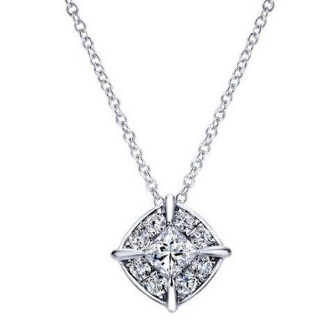 "Gabriel Diamond ""Gatsby"" Necklace in 14K White Gold · NK4900W44JJ · Ben Garelick Jewelers"