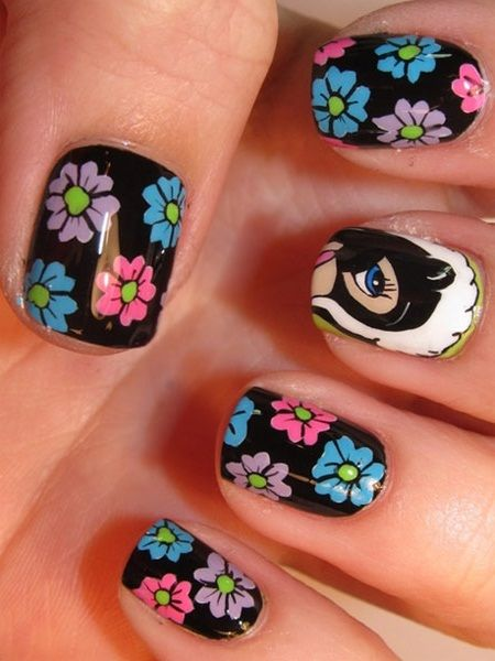 10 Awesome Hand Painted Nail Art Designs Flower from Disney's Bambi