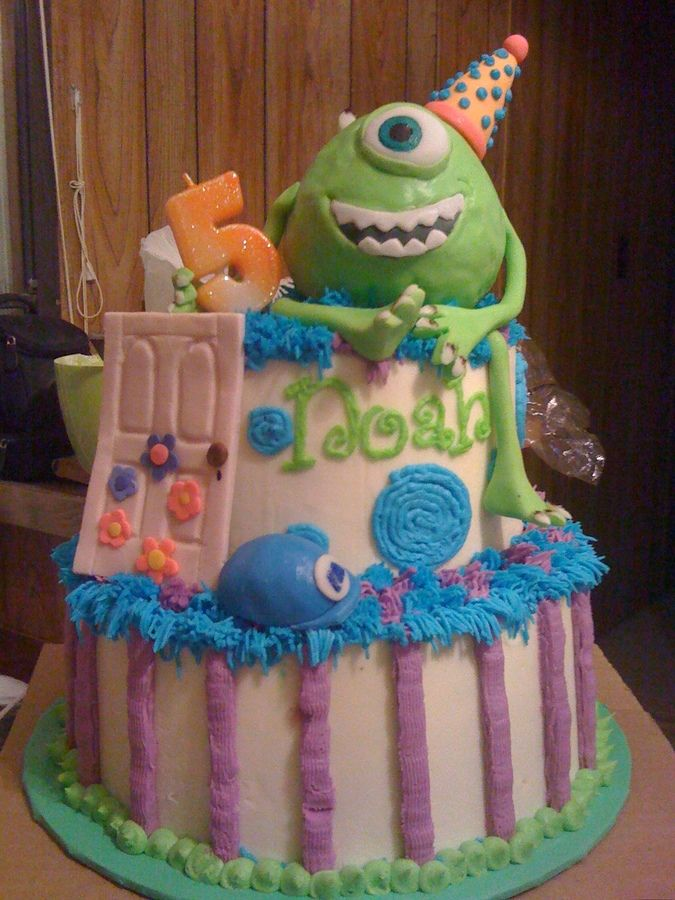 104 Best Monsters Inc Cakes Images On Pinterest Disney Cakes