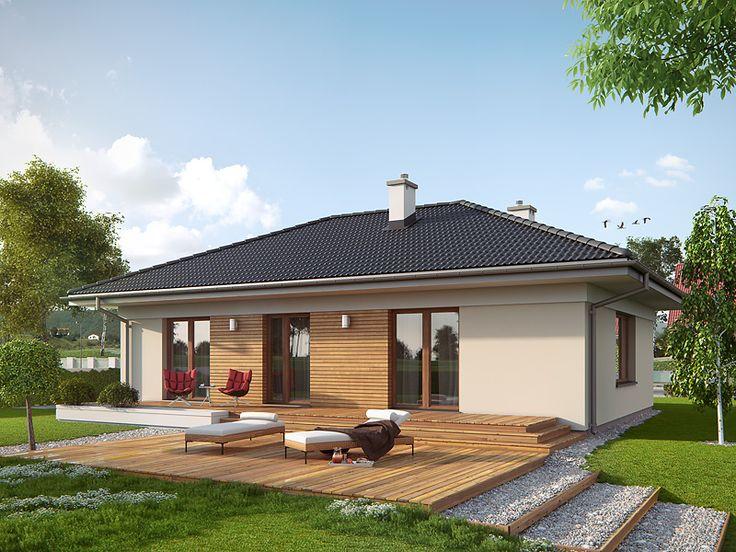 Decyma 2 (97,92 m2) to dom parterowy zaprojektowany na planie prostokąta z kopertowym dachem. Projekt posiada bardzo funkcjonalne wnętrze oraz rozległy taras od strony elewacji ogrodowej. Pełna prezentacja projektu znajduje się na stronie: http://www.domywstylu.pl/projekt-domu-decyma_2.php. #decyma #projekty #projekt #domyparterowe #projektygotowe #domywstylu #mtmstyl #architektura #design #style