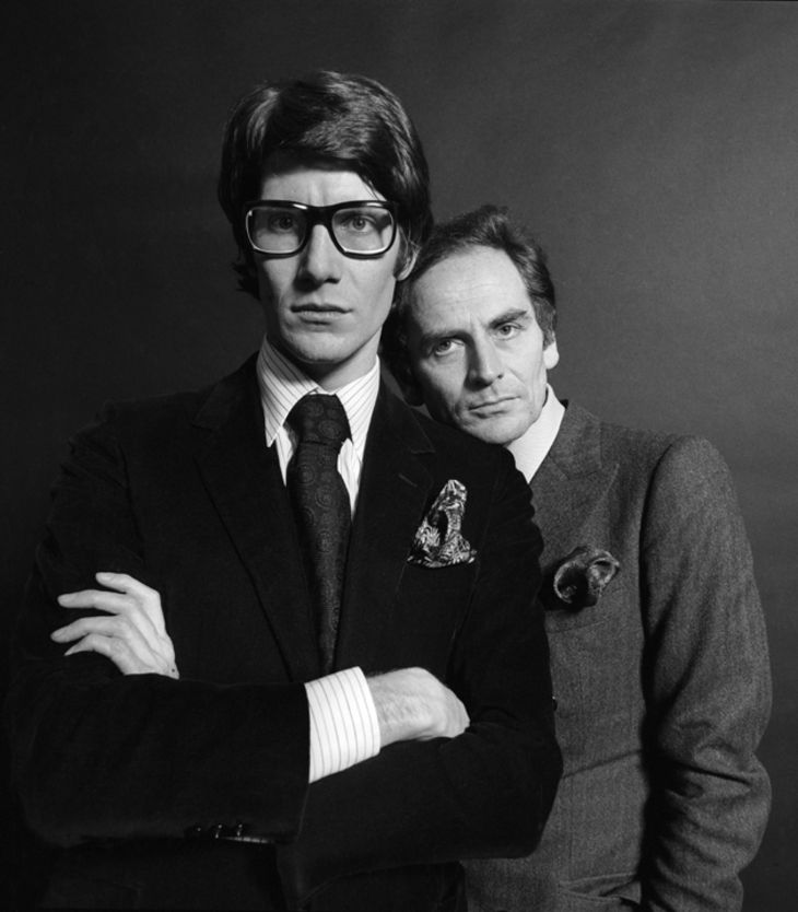 Yves Saint Laurent avec Pierre Berger - Willy Rizzo