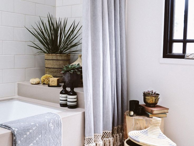 DIY Extra Long Shower Curtain   Long shower curtains ...