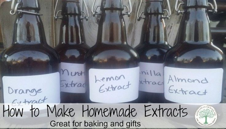 Make your own extracts for delicious baking and gift giving! The possibilites are endless, and the recipes are easy to follow!