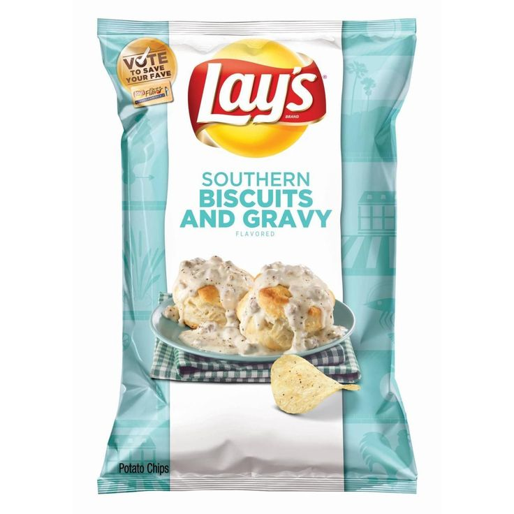 """New Lays flavor Southern Biscuits and Gravy captured America's heart and the Lays """"Do Us a Flavor"""" crown. (Photos courtesy of Lay's) It's official: Southern Biscuits and Gravy is the winner ofLay's annual """"Do Us a Flavor"""" contest, Yahoo Food can exclusively report. The creation was voted the top entry"""
