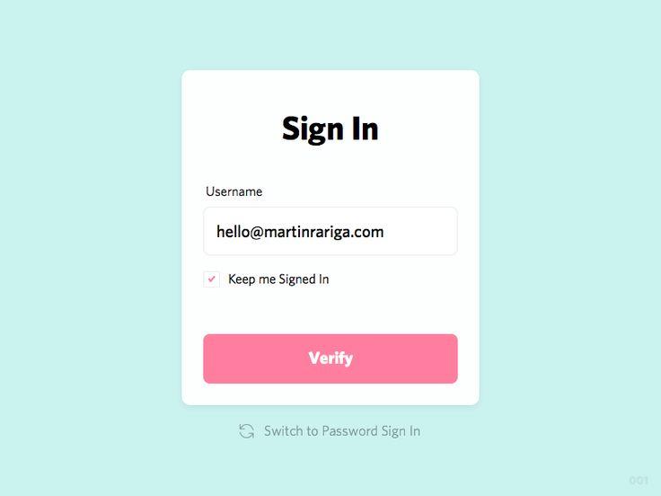 001 –– Sign In Card by Martin Rariga