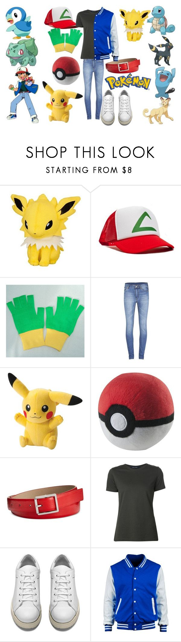 """Ash Cosplay (Pokemon)"" by dino-satan666 ❤ liked on Polyvore featuring Cheap Monday, Style & Co., Sofie D'hoore and Acne Studios"