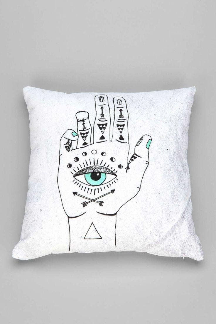 Wesley Bird For DENY Eye See Hamsa Pillow