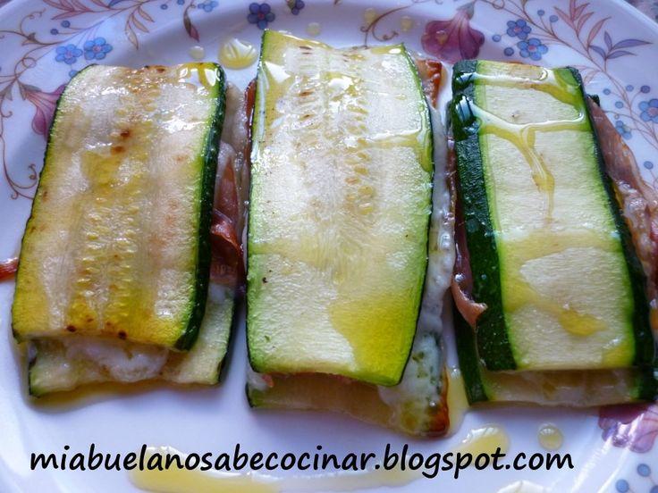 Libritos de calabacin al horno rellenos de jam n y queso for Opciones de cenas ligeras