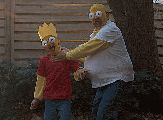 Bart and Homer Simpson Costumes