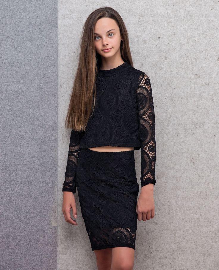 Girl's Rococo Lace Top - Bardot Junior