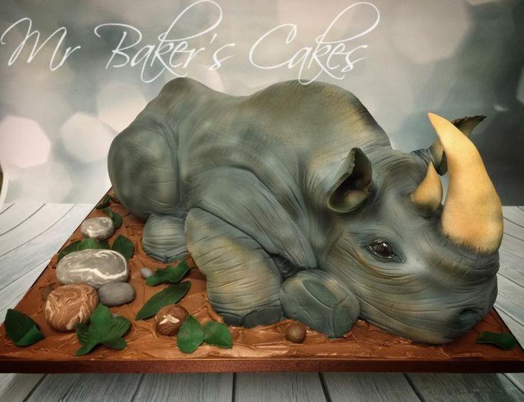 Resultado de imagen de tarta fondant rinoceronte