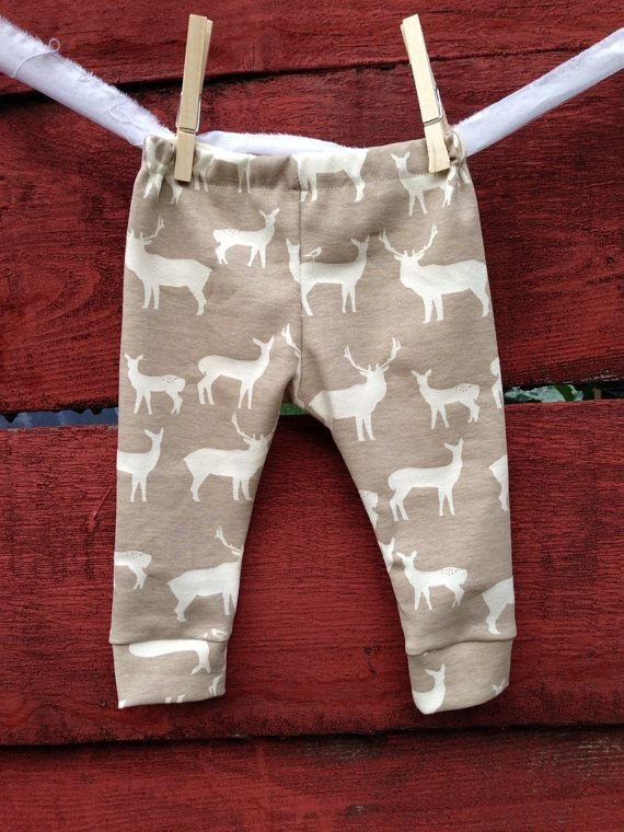 Elk organic Baby leggings, infant leggings, organic cotton leggings, printed leggings
