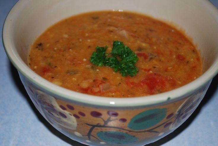 Italian'ish Lentil Tomato Soup