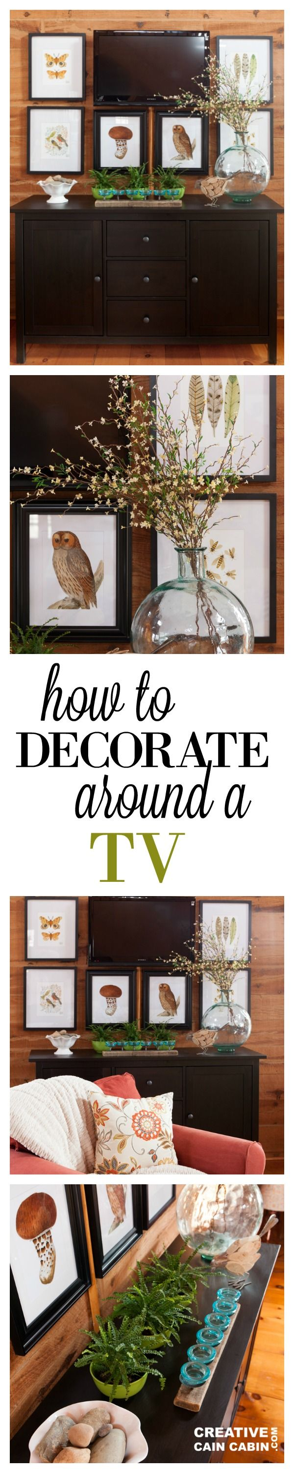 How to Decorate Around a Wall Mounted TV using Artwork