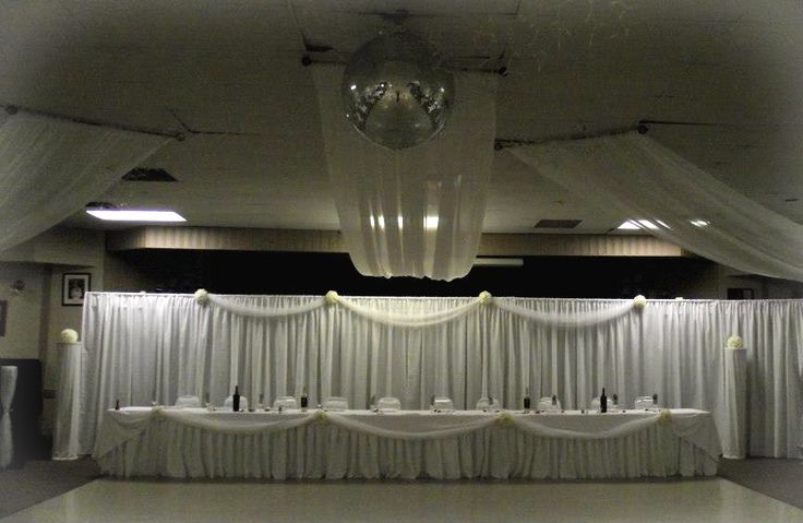 White and Ivory head table.