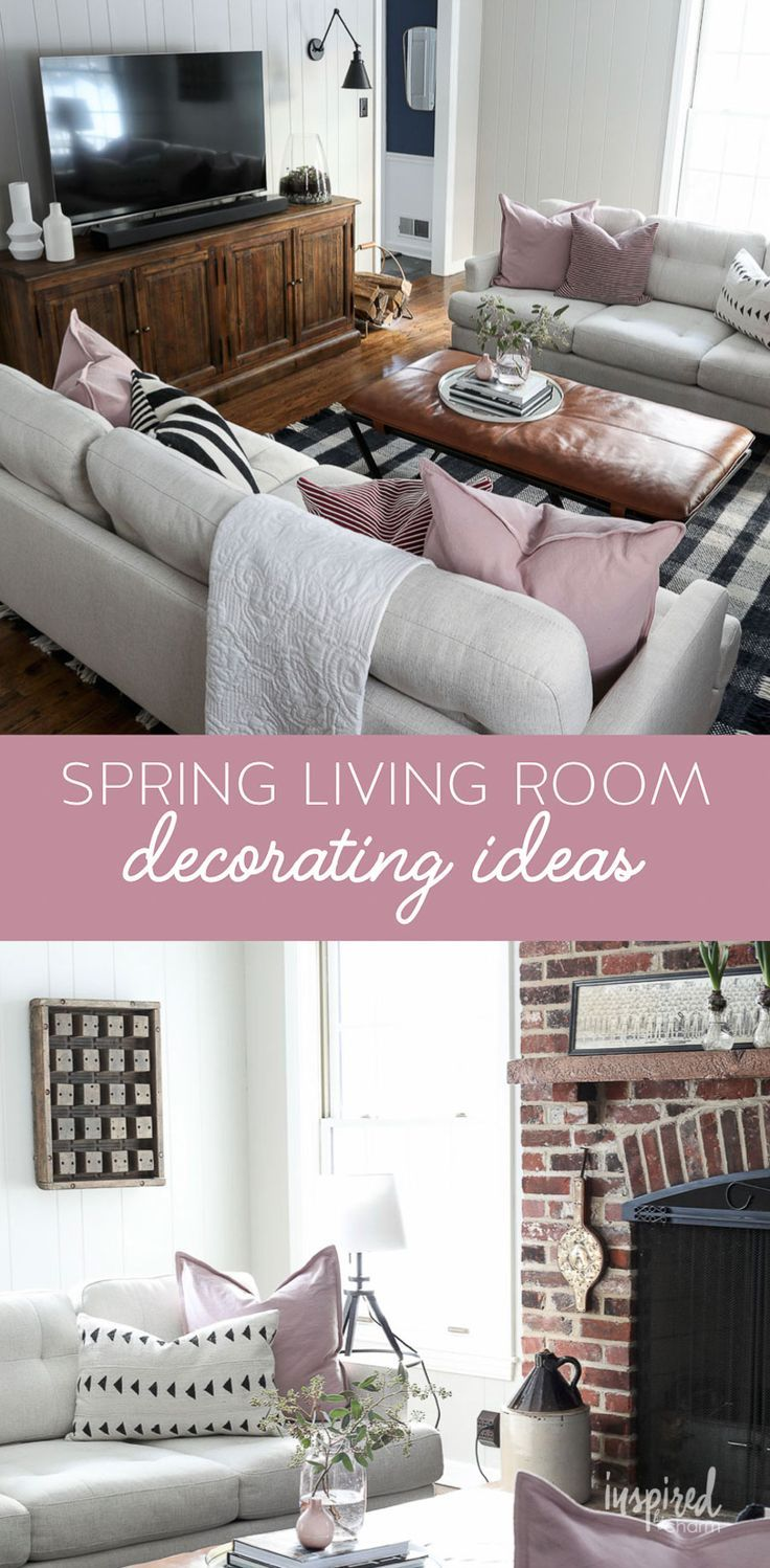 Spring Living Room Decor Ideas To Decorate Your Home For A New Season Spring Livingroom Deco Spring Living Room Spring Living Room Decor Casual Living Rooms