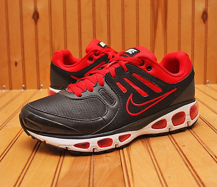 Nike Air Max Tailwind + 2010 Size 8 - Black Sport Red White Bred - 454531  005