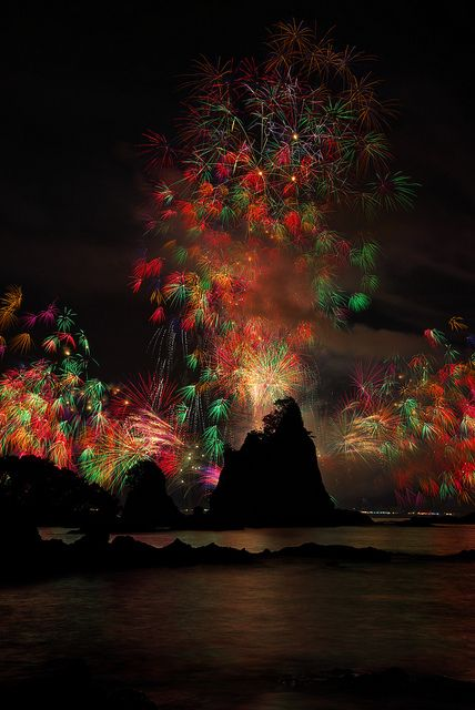 Fireworks at Nachikatsuura, Wakayama, Japan