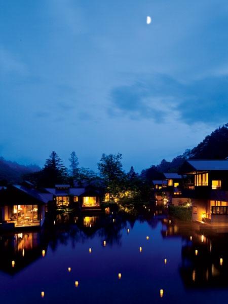 Des hôtels particuliers: le ryokan réinventé. Hoshinoya, au Japon.
