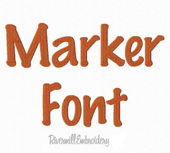 Marker Machine Embroidery Font Monogram by RivermillEmbroidery, $2.95