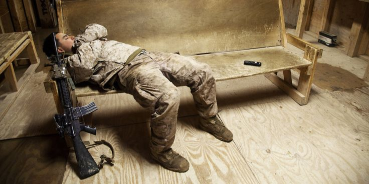 Why the Marines are moving on from the M-16. A. U.S. Marine assigned to Fox Company, 2nd Battalion, 7th Marine Regiment takes a nap on Forward Operating Base Now Zad, Helmand province, Afghanistan, Dec. 17, 2012.