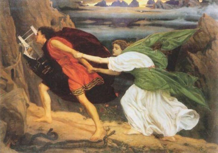 Anselm Feuerbach - Orpheus Bringing back Eurydice.  Tags: orpheus, Orfeus, Eurydice, eurydke,
