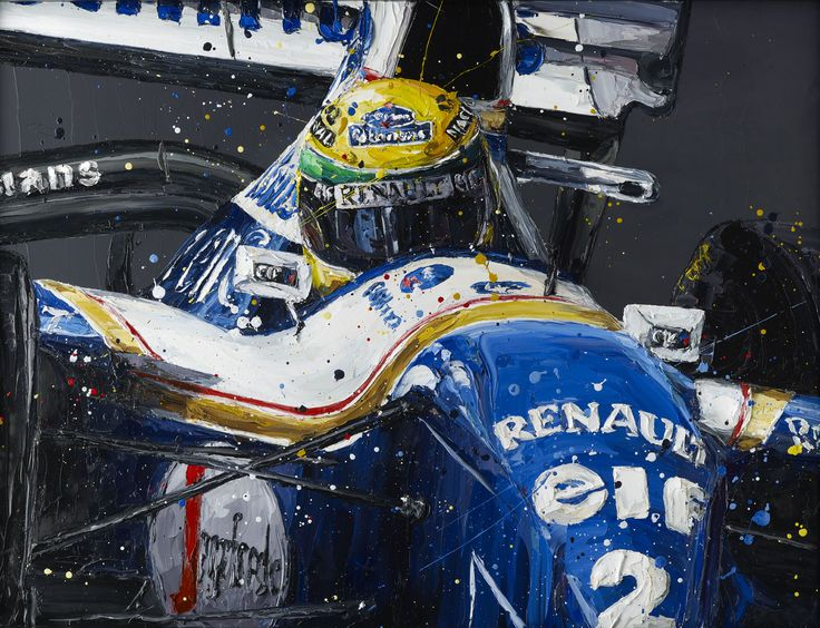 Paul Oz is the buzz word in Formula One art; widely acclaimed for his explosive and energetic artworks and well-respected for his genuine passion for the sport.  We are proud to present to you this limited edition, hand embellished Paul Oz print, which portrays Ayrton Senna in his 1994 Williams F1 car.  Available as part of a strictly limited edition of 100 hand embellished box canvas prints. Paul personally embellishes each museum-quality print with a pallette knife and the same techniq...