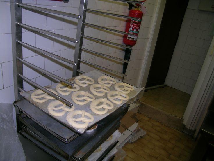 I #brezeln, i panini bianchi, pane bavarese, delizia tipica