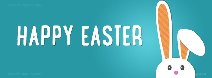 Easter - Happy Easter Bunny Head - Free Facebook Covers, Facebook Timeline Profile Covers #Easter #Holiday #EasterBunny #TimelineCover