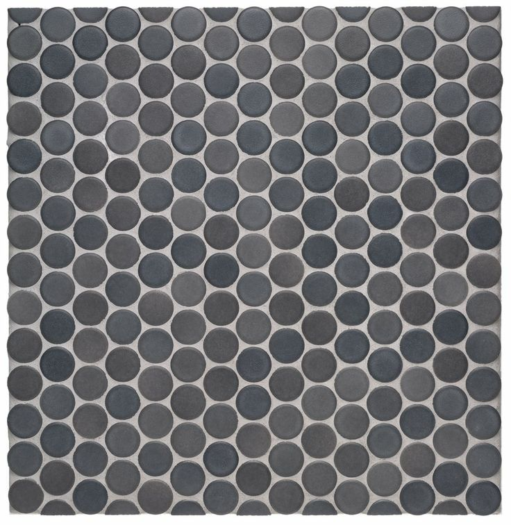 Waterworks Graphite Penny Round Tile Matte Finish Discontinued And Likely Pricey