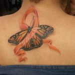 MS Ribbon Tattoos | Multiple Sclerosis Awareness Tattoo Done Vera