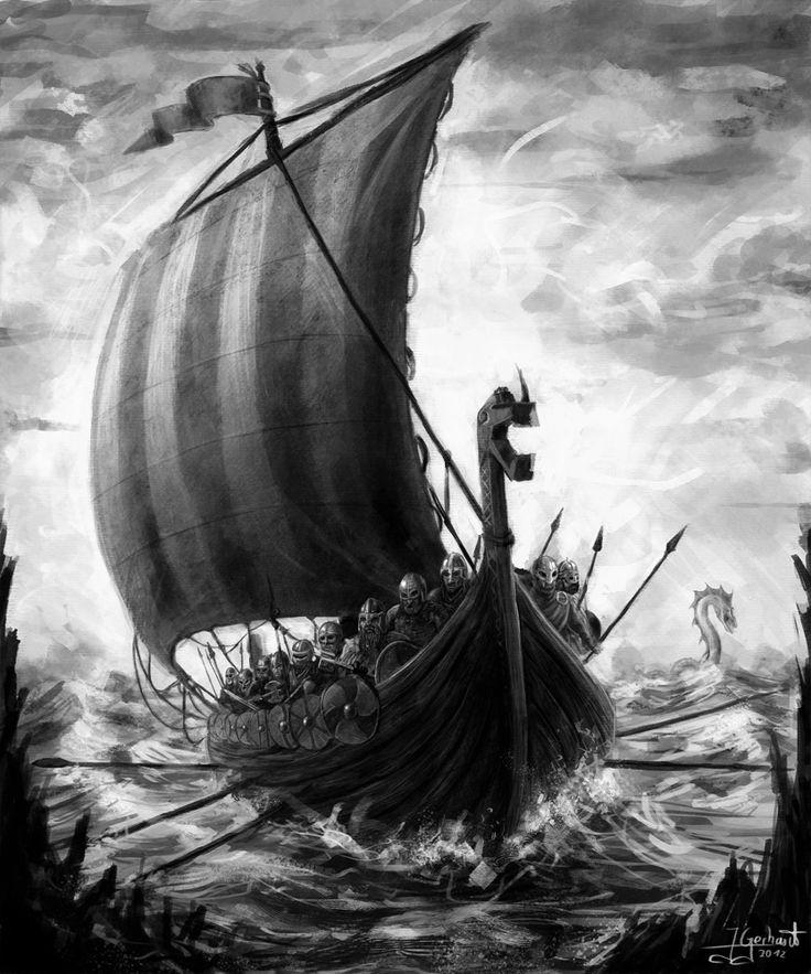 Vikings attacking