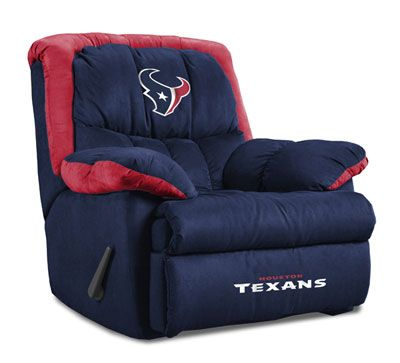 Houston Texans Home Team Recliner. Watching Texans football in style! #texans #houston #nfl