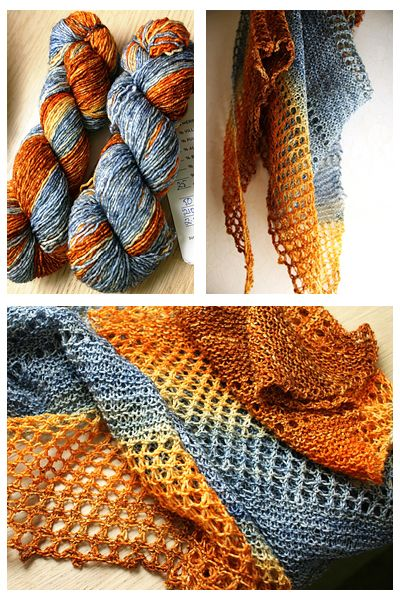 Ravelry: Antarktis shawl with gradient Handu yarn - knitting pattern by Janina Kallio.