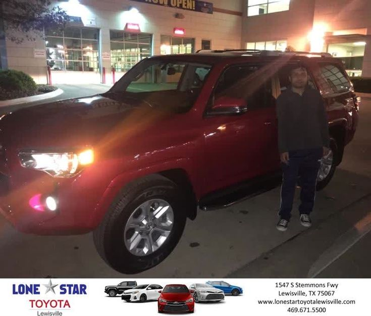 Lone Star Toyota of Lewisville Customer Review  Chris Richardson at Lone Star Toyota was really helpful with getting me my Red Toyota 4 Runner . He was perfect .  Mahesh, https://deliverymaxx.com/DealerReviews.aspx?DealerCode=E208&ReviewId=57395  #Review #DeliveryMAXX #LoneStarToyotaofLewisville