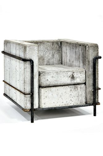 jonathandredge:   concrete chair  after Le Corbusier Grande Comfort